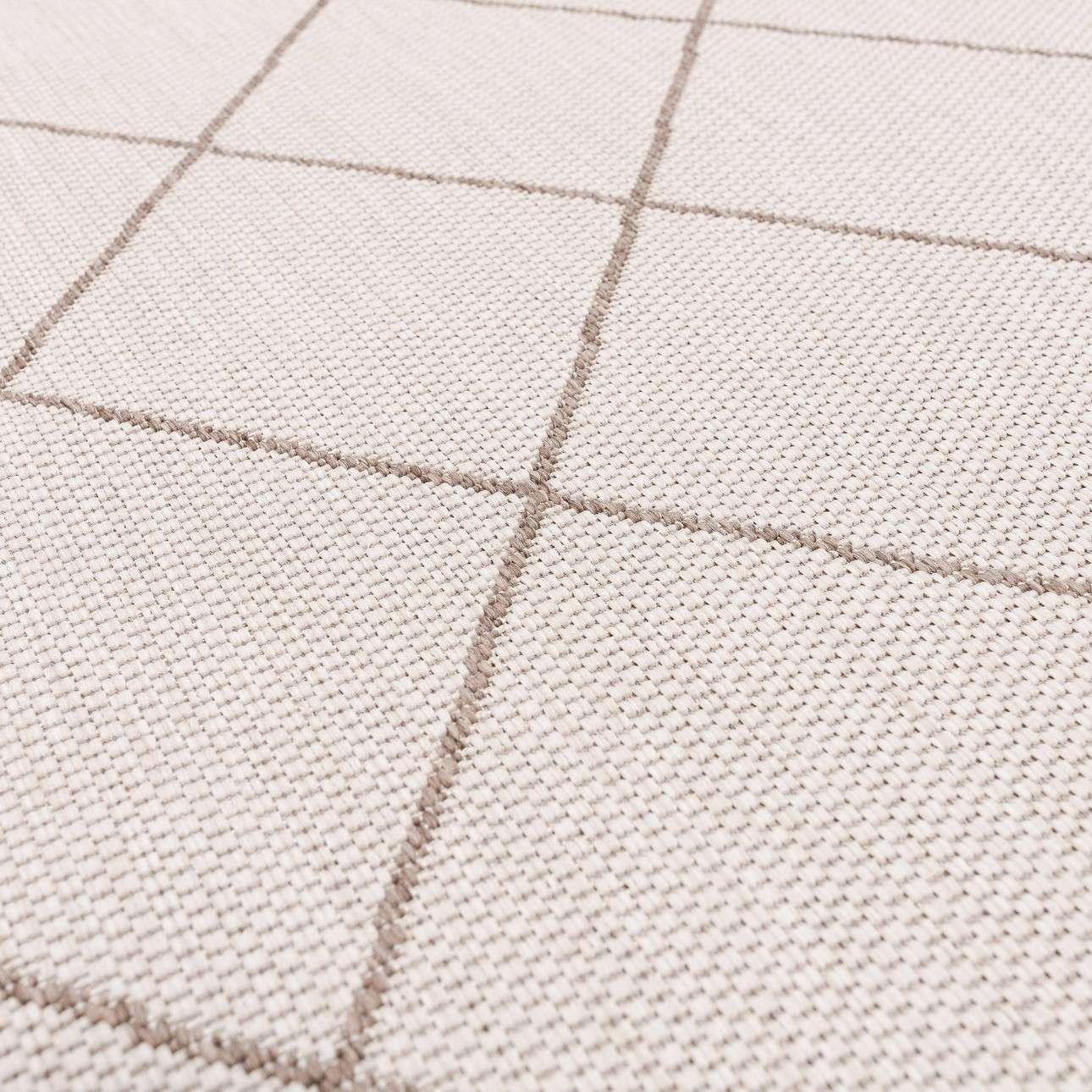 Teppich Lineo Rhombs wool/mink 120x170cm