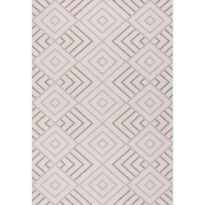 Dywan Lineo Geometric wool/mink 200x290cm Dywany - Dekoria.pl