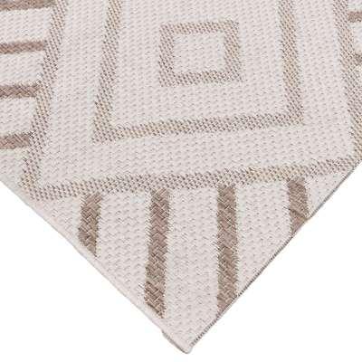 Teppich Lineo Geometric wool/mink 200x290cm Teppiche - Dekoria.de