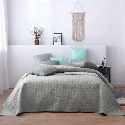 Vattert sengeteppe i sildebensmønster  - Dekoria.no