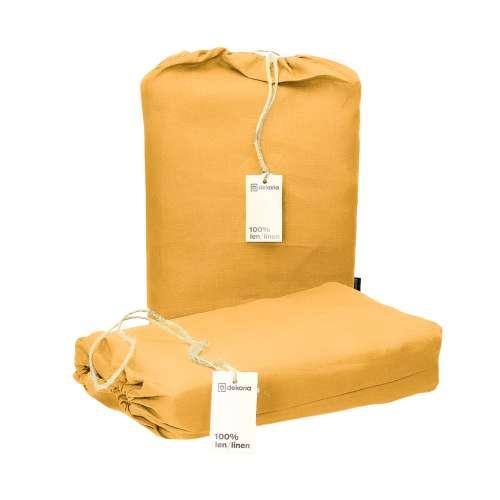 Bettwäscheset Linen 160x200cm yellow