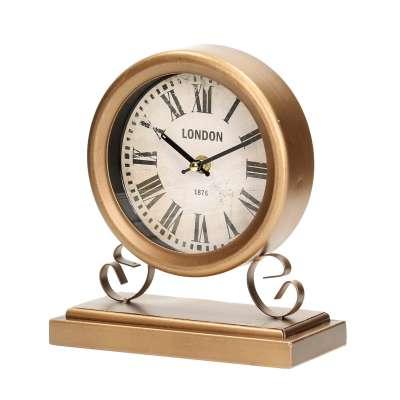 Kaminuhr English Time 20x10x23cm Wohnaccessoires - Dekoria.de