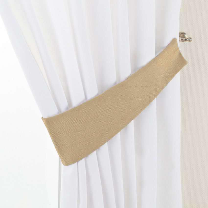 Gardinomtag Victoria i kollektionen Panama Cotton, Tyg: 702-01