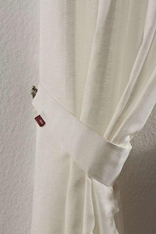 Raffhalter Victoria 12 x 70 cm von der Kollektion Leinen, Stoff: 392-03
