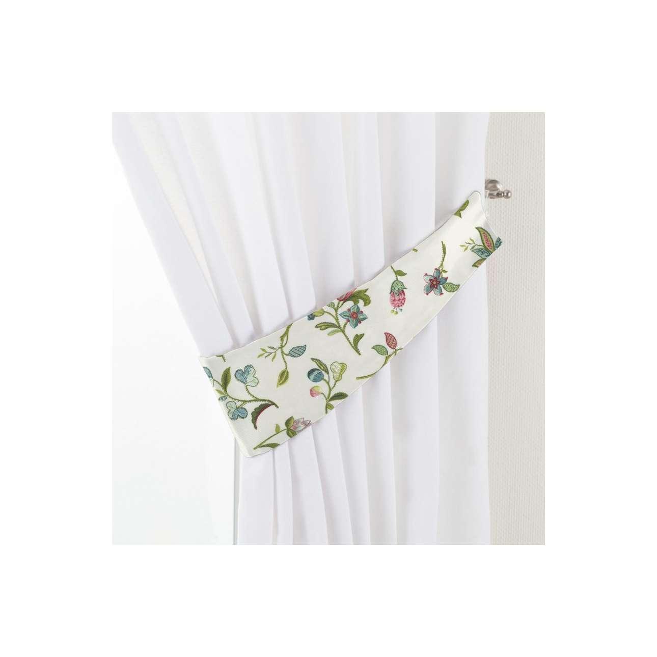 Dekoria Vázačka Victoria, menší pohádkové květy na světlém podkladu, 12 × 70 cm, Londres, 122-02
