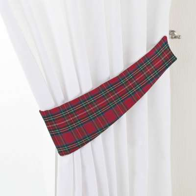 Victoria tieback 126-29 red and green check Collection Bristol
