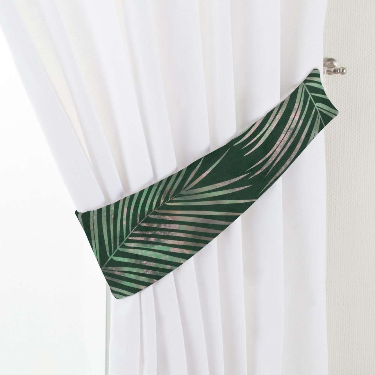 Raffhalter Victoria, grün, 12 × 70 cm, Velvet | Heimtextilien > Gardinen und Vorhänge > Raffhalter | Dekoria