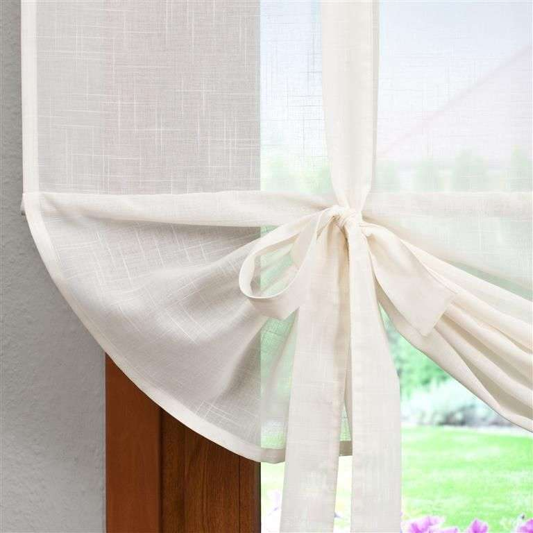 Roma voile blind with bamboo 100 x 180 cm (39,5 x 71 inch) in collection Romantica, fabric: 128-88