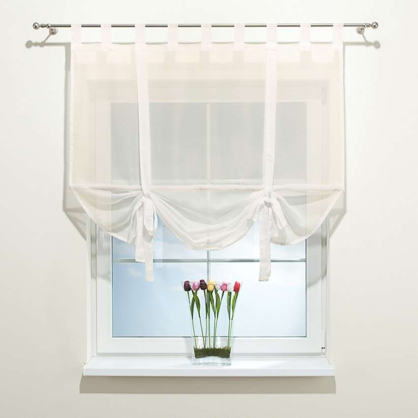 Záclonová roleta Roma s bambusovou tyčkou 100 x 180 cm V kolekcii Záclona hladká, tkanina: 900-01