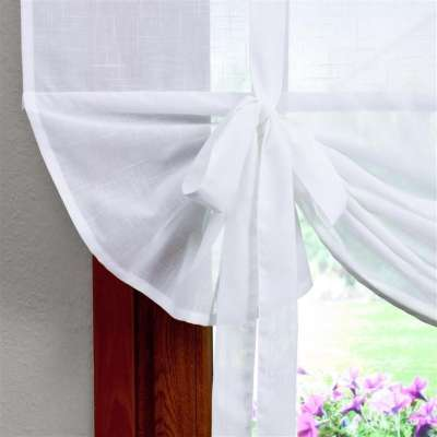 Roma voile blind with bamboo 128-77 sheer white Collection Romantica