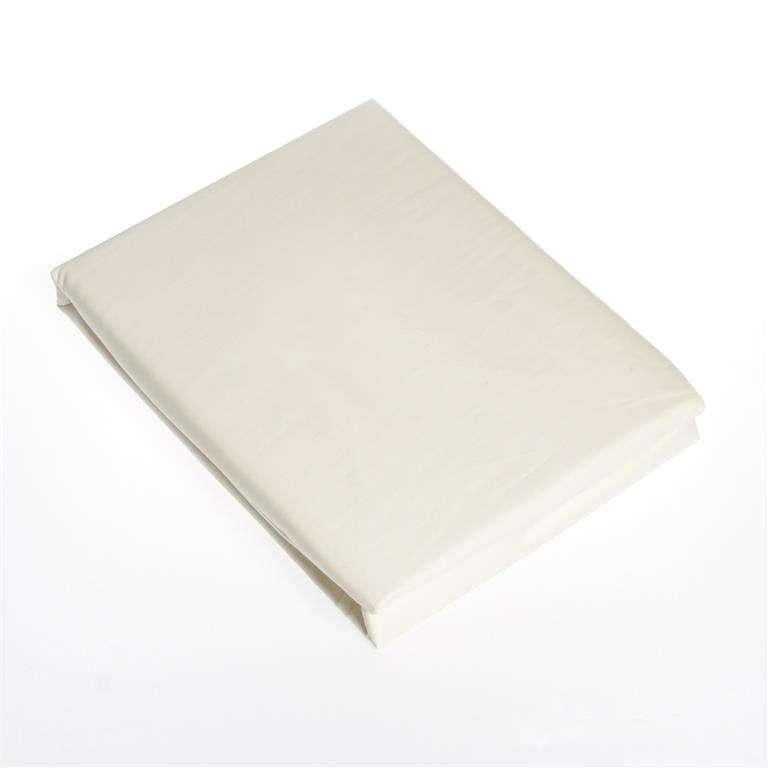 Paklodė su guma iš satino (dramblio kaulo spalva) 90x200cm