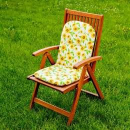 Kėdės čiužinys 94x40x3,5cm saulėgrąžos