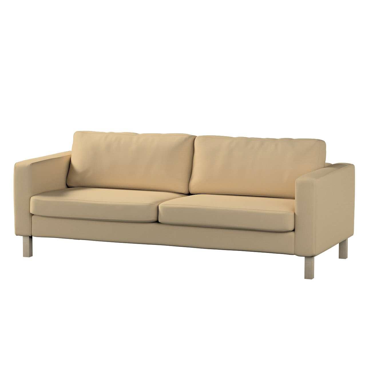 Pokrowiec na sofę Karlstad rozkładaną, krótki Sofa Karlstad 3-os rozkładana w kolekcji Cotton Panama, tkanina: 702-01