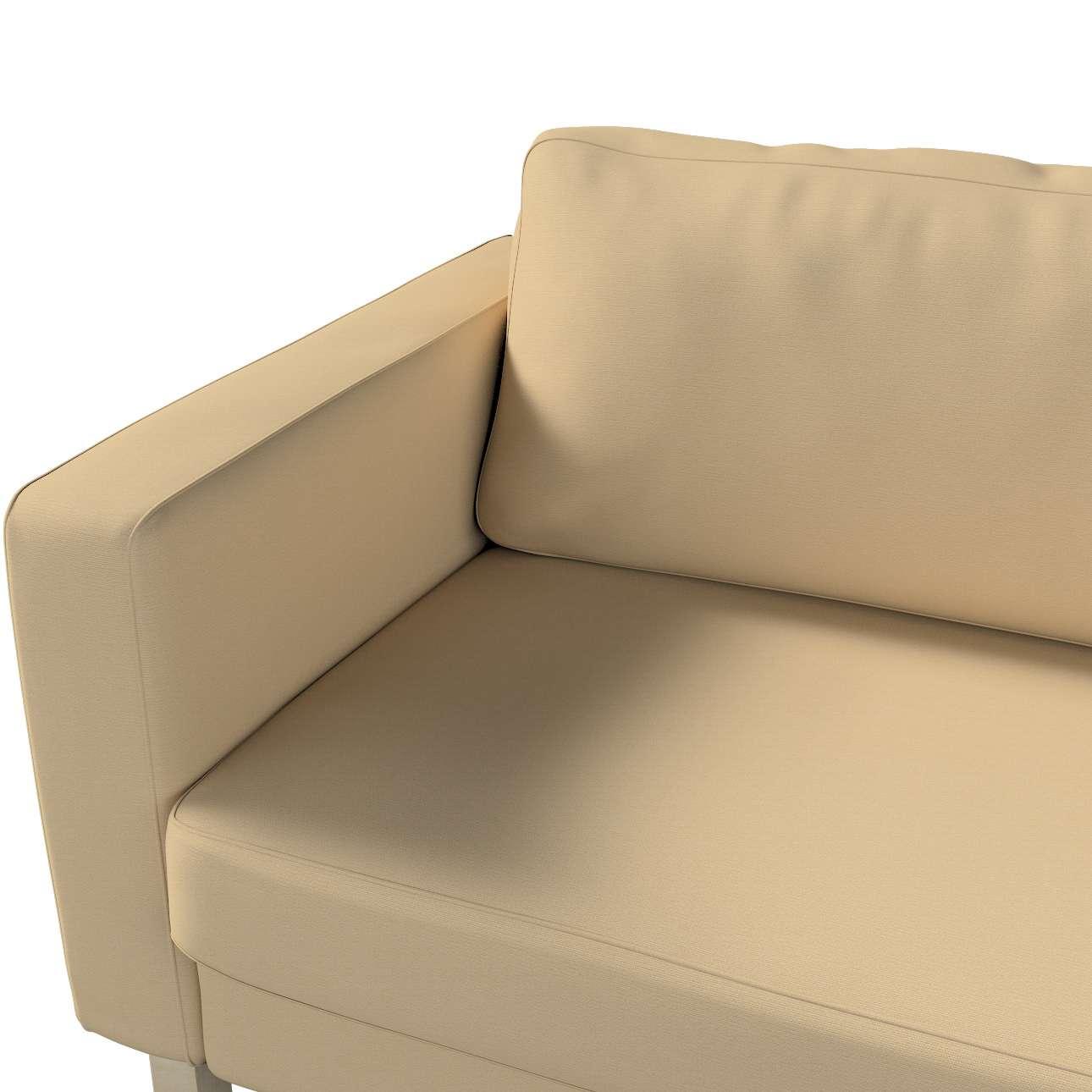 Pokrowiec na sofę Karlstad rozkładaną w kolekcji Cotton Panama, tkanina: 702-01