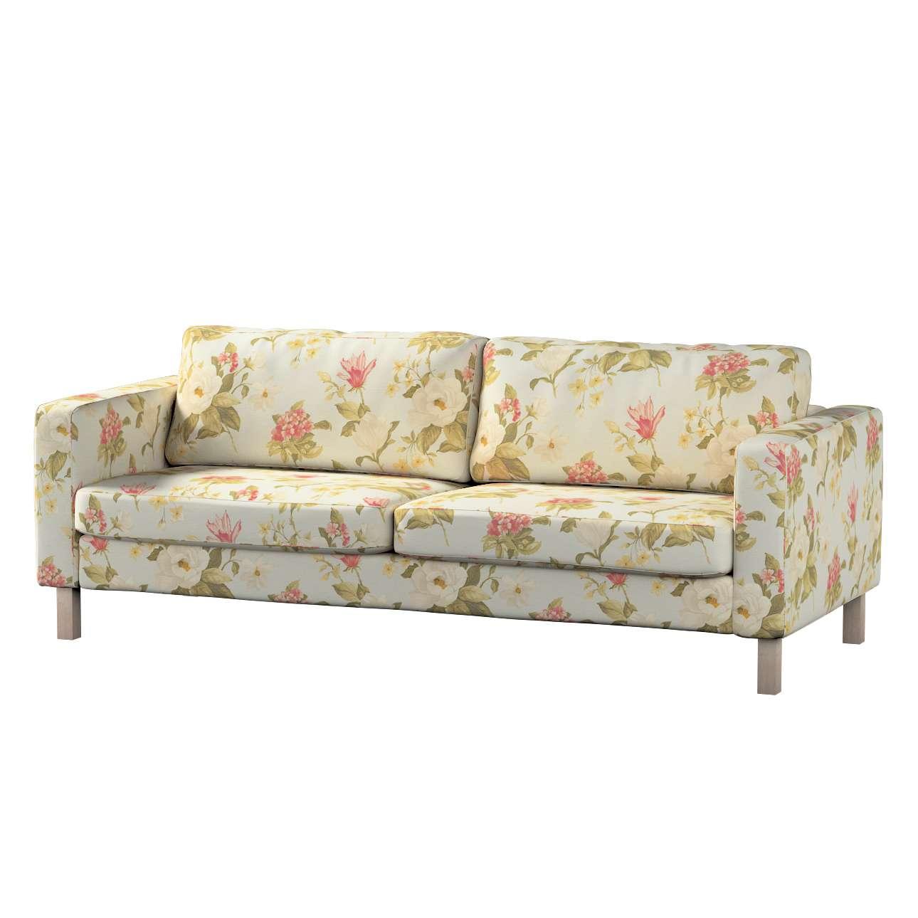 Pokrowiec na sofę Karlstad rozkładaną, krótki Sofa Karlstad 3-os rozkładana w kolekcji Londres, tkanina: 123-65