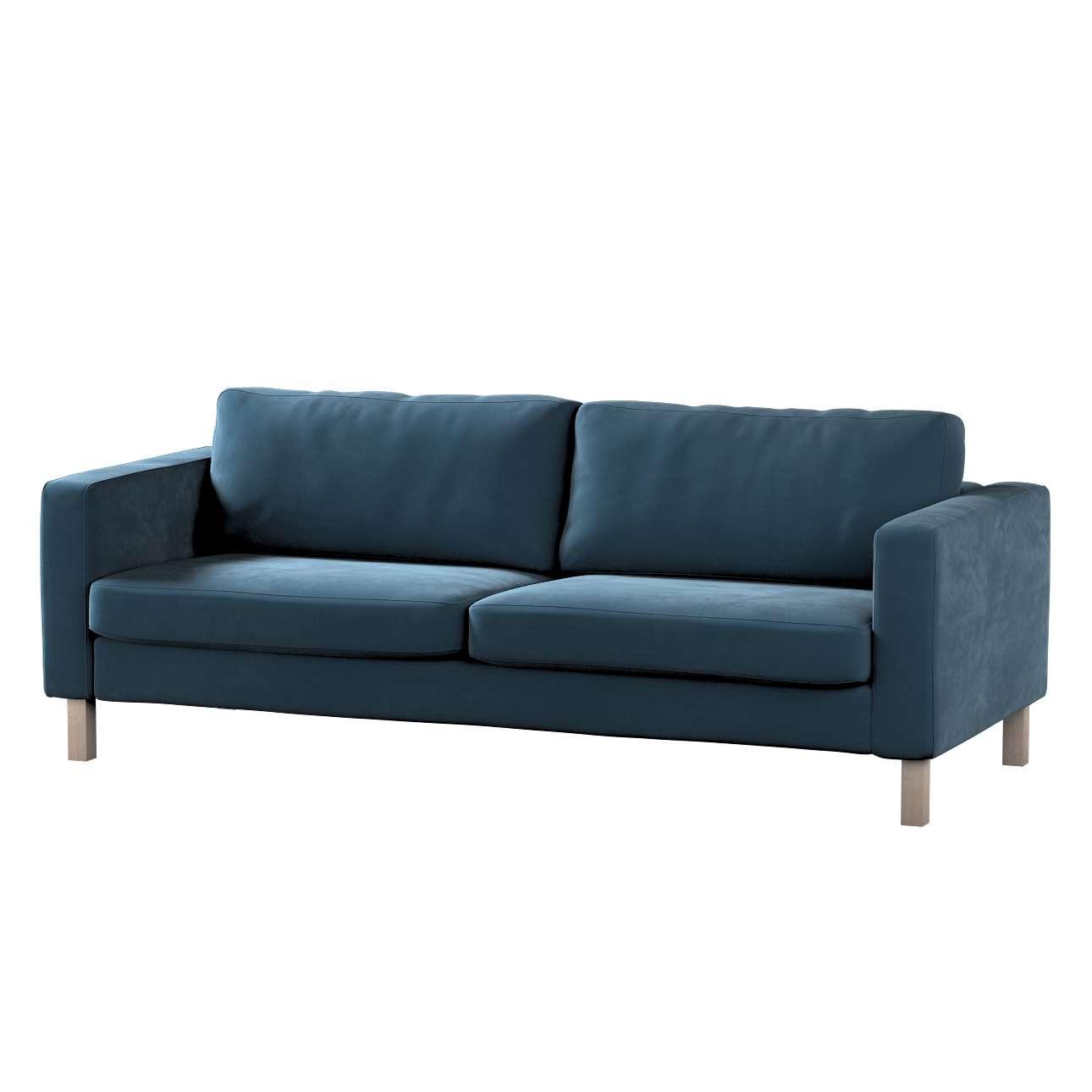 Pokrowiec na sofę Karlstad rozkładaną w kolekcji Velvet, tkanina: 704-16