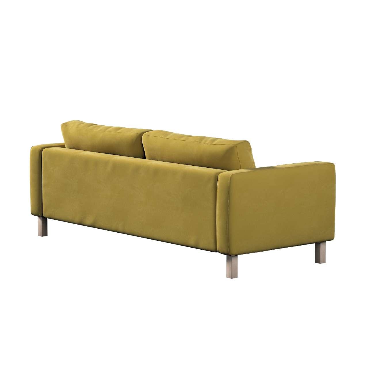 Pokrowiec na sofę Karlstad rozkładaną w kolekcji Velvet, tkanina: 704-27