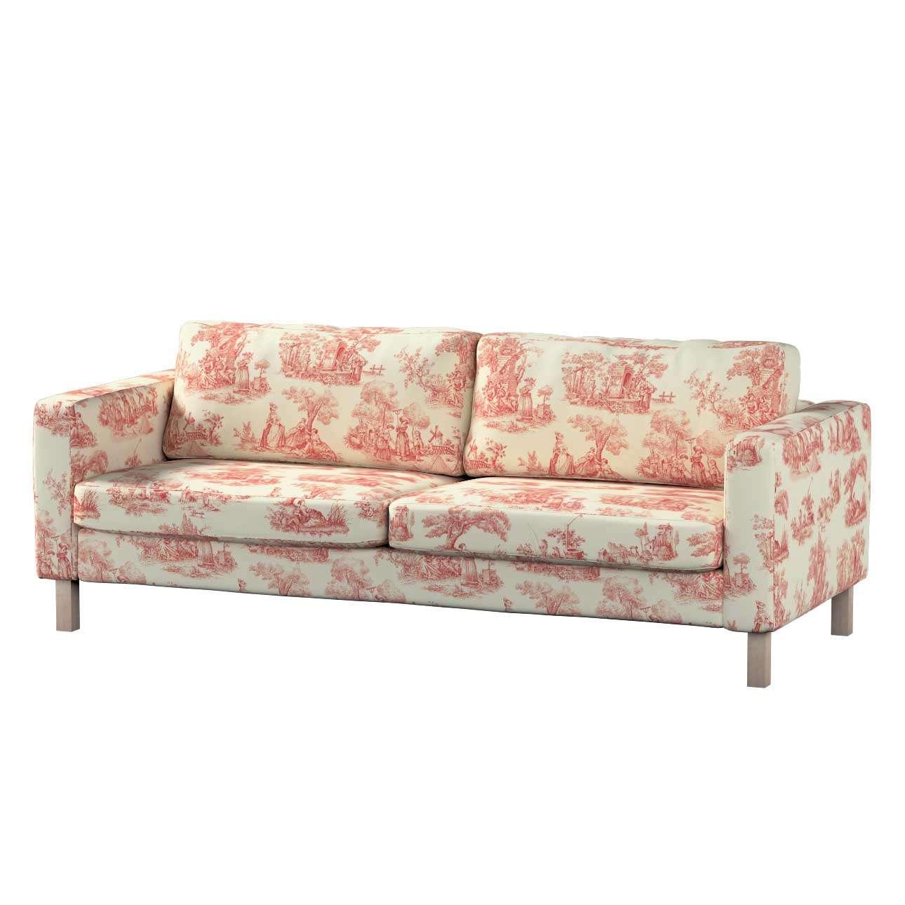 Pokrowiec na sofę Karlstad rozkładaną, krótki Sofa Karlstad 3-os rozkładana w kolekcji Avinon, tkanina: 132-15