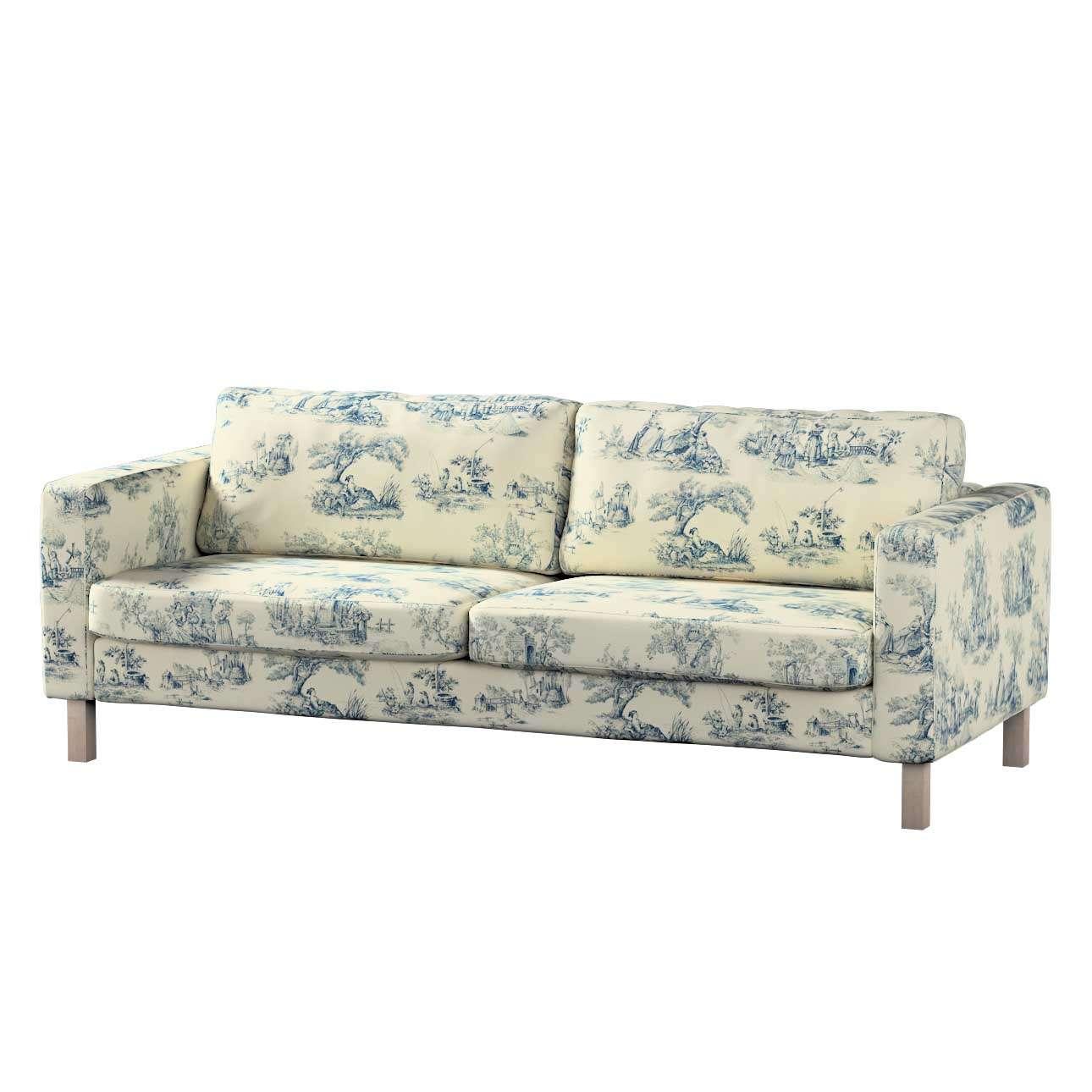 Pokrowiec na sofę Karlstad rozkładaną, krótki Sofa Karlstad 3-os rozkładana w kolekcji Avinon, tkanina: 132-66