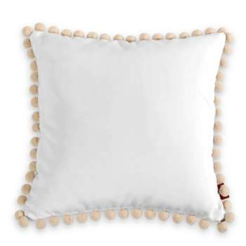 Wera cushion cover with pompons  - Dekoria.co.uk