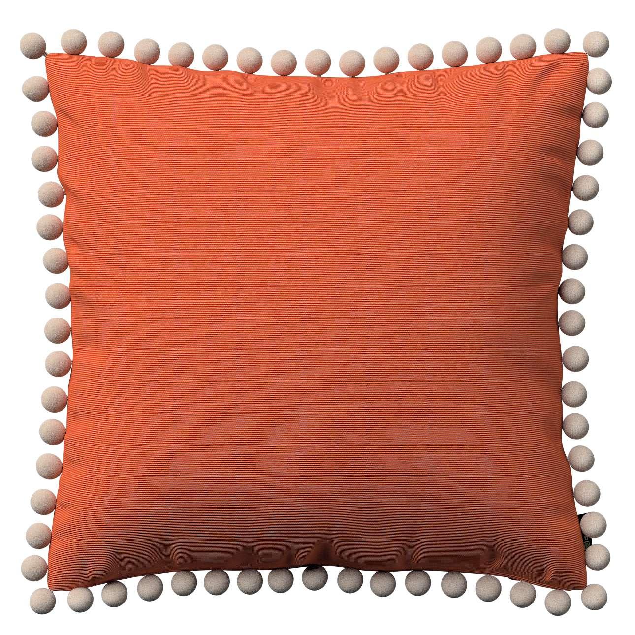 Wera dekoratyvinės pagalvėlės užvalkalas su žaismingais kraštais 45 x 45 cm kolekcijoje Jupiter, audinys: 127-35