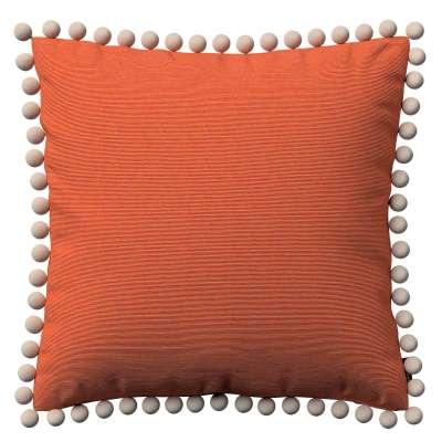 Viera s brmbolcami 127-35 oranžová Kolekcia Jupiter
