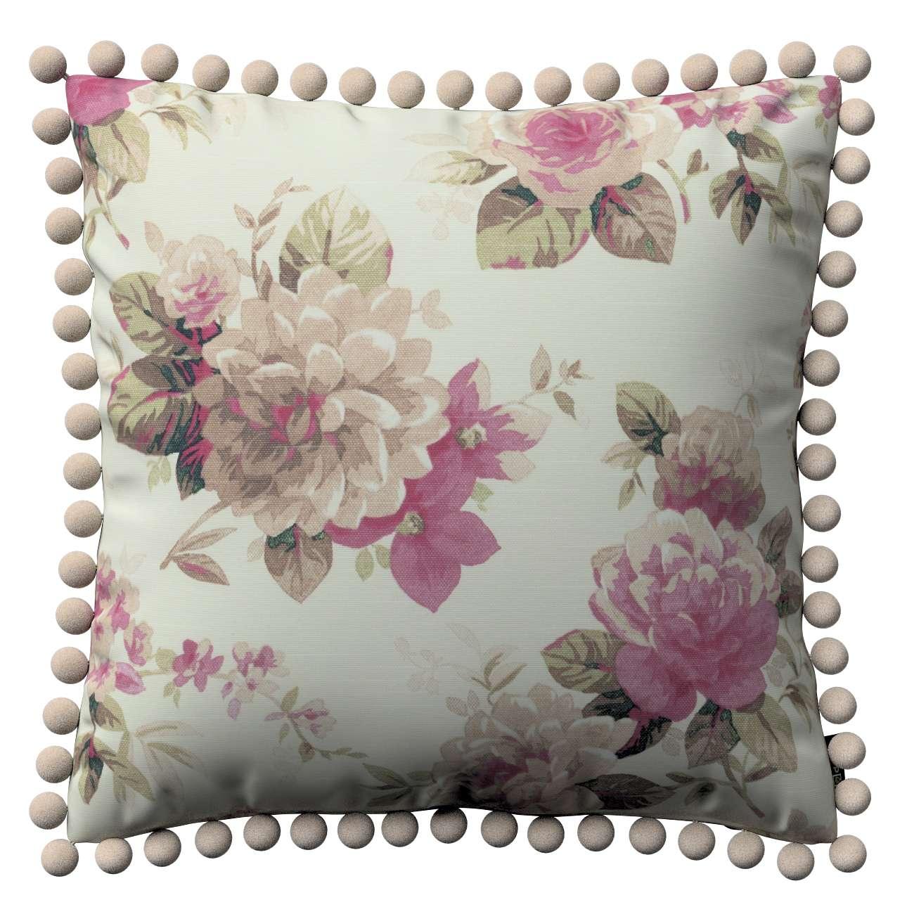 Wera dekoratyvinės pagalvėlės su žaismingais kraštais 45 x 45 cm kolekcijoje Mirella, audinys: 141-07