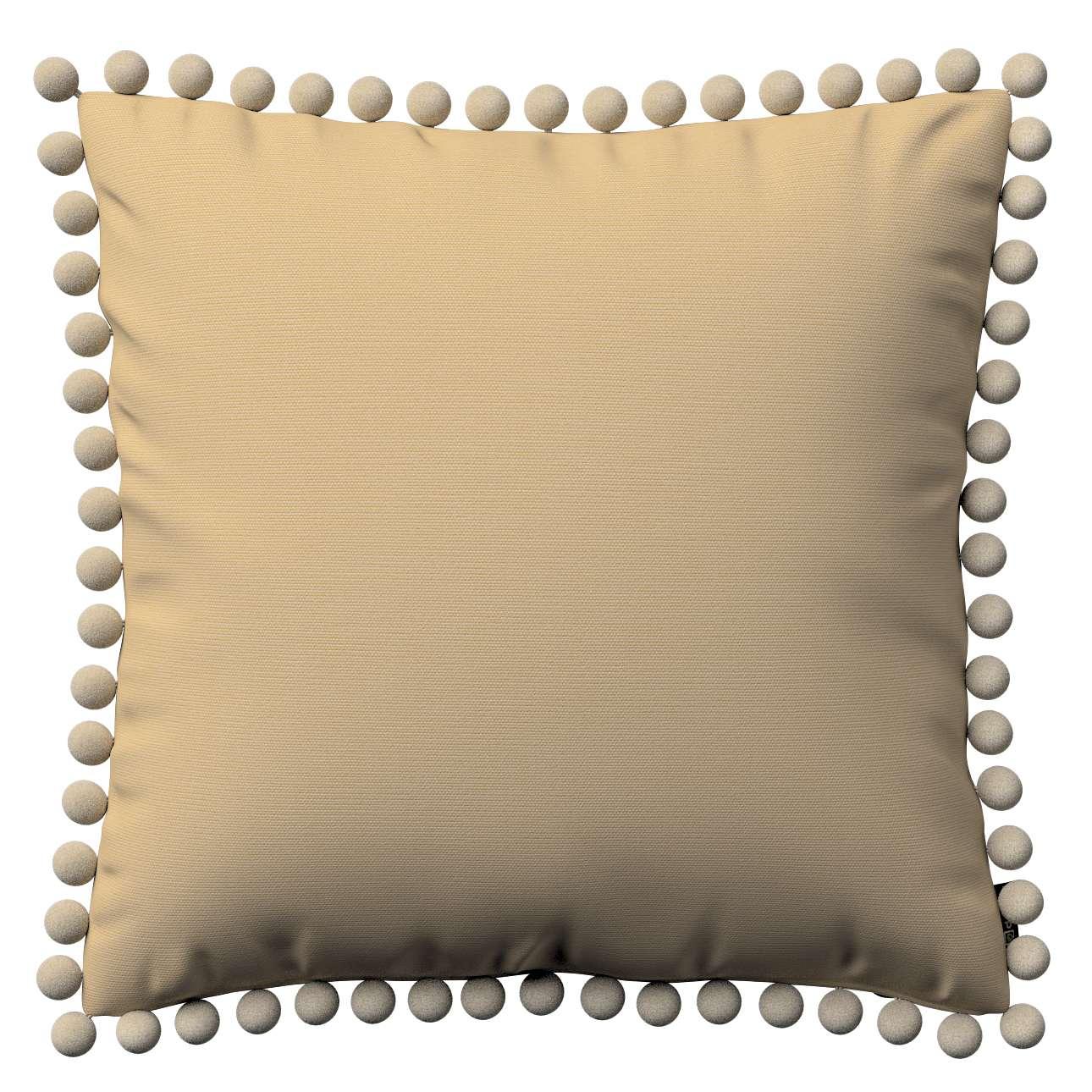 Wera dekoratyvinės pagalvėlės su žaismingais kraštais 45 x 45 cm kolekcijoje Cotton Panama, audinys: 702-01