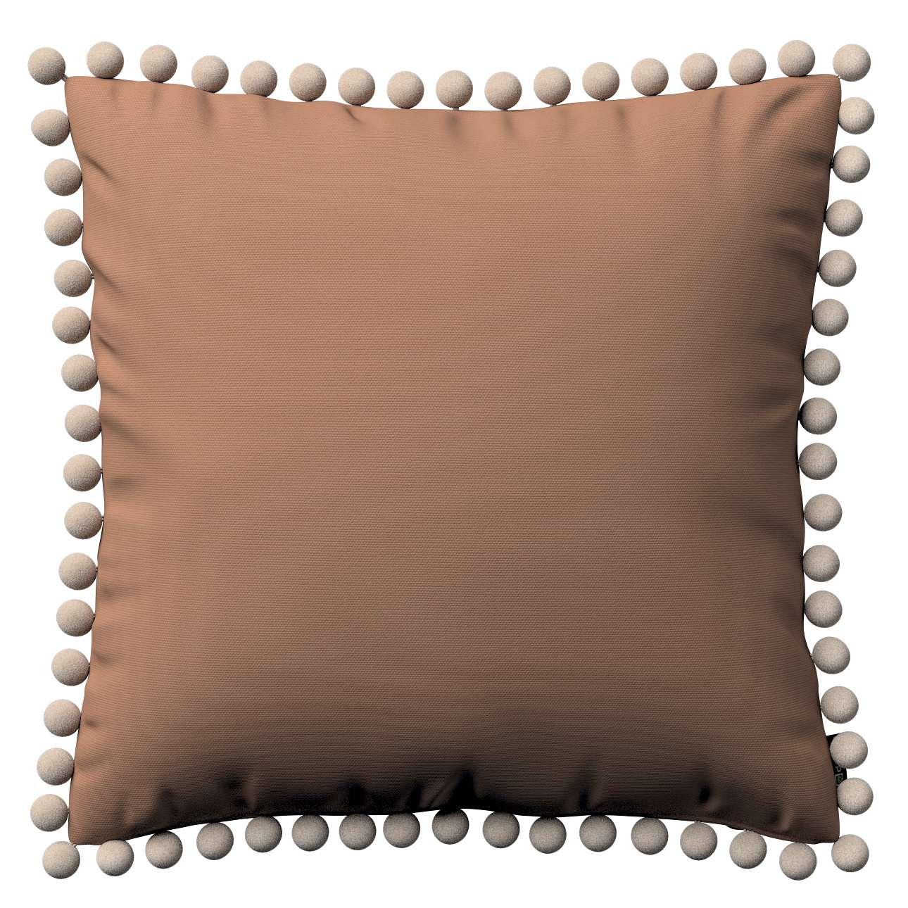 Wera dekoratyvinės pagalvėlės su žaismingais kraštais 45 x 45 cm kolekcijoje Cotton Panama, audinys: 702-02