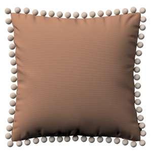 Kissenhülle Wera mit Bommeln 45 x 45 cm von der Kollektion Cotton Panama, Stoff: 702-02