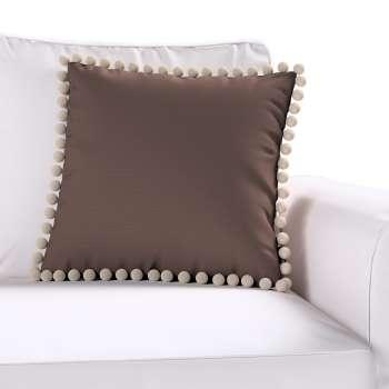 Wera dekoratyvinės pagalvėlės užvalkalas su žaismingais kraštais 45 × 45 cm kolekcijoje Cotton Panama, audinys: 702-03