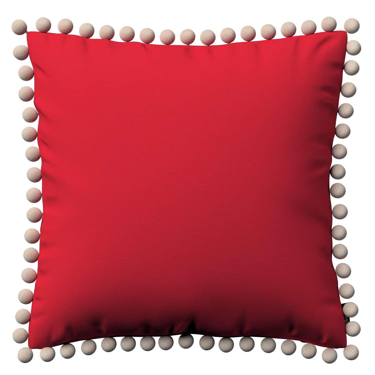 Wera dekoratyvinės pagalvėlės užvalkalas su žaismingais kraštais 45 x 45 cm kolekcijoje Cotton Panama, audinys: 702-04