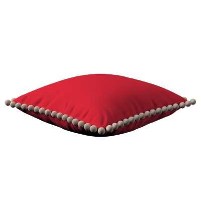 Pudebetræk<br/>Vera med pomponer 702-04 Rød Kollektion Cotton Panama