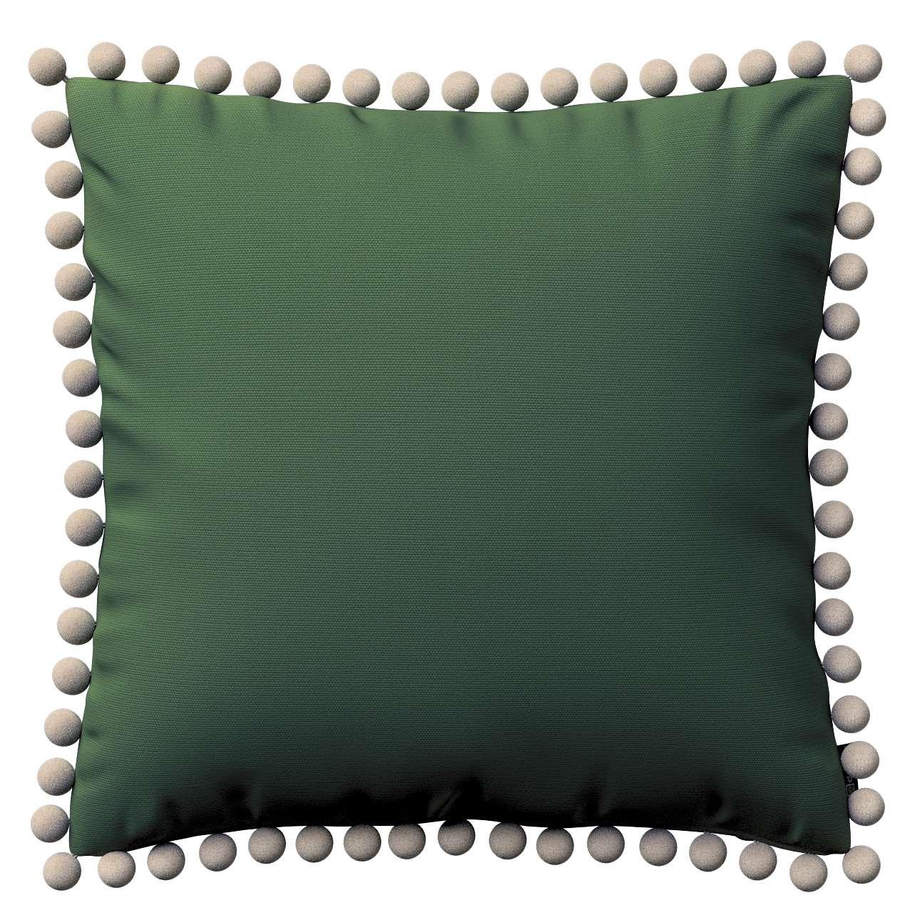 Wera dekoratyvinės pagalvėlės užvalkalas su žaismingais kraštais 45 x 45 cm kolekcijoje Cotton Panama, audinys: 702-06
