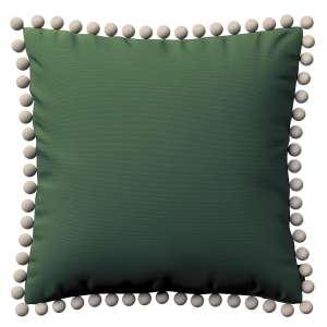 Kissenhülle Wera mit Bommeln 45 x 45 cm von der Kollektion Cotton Panama, Stoff: 702-06