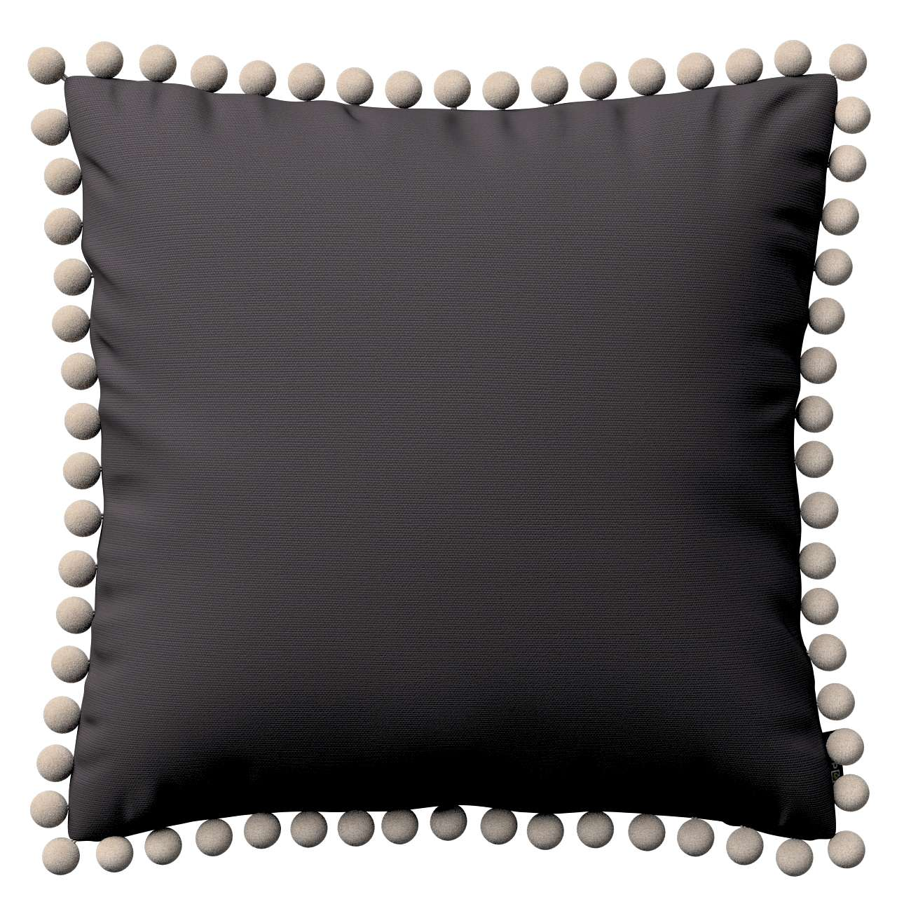 Kissenhülle Wera mit Bommeln 45 x 45 cm von der Kollektion Cotton Panama, Stoff: 702-09