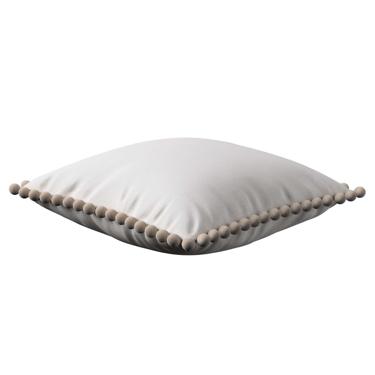 Wera dekoratyvinės pagalvėlės užvalkalas su žaismingais kraštais 45 x 45 cm kolekcijoje Linen , audinys: 392-04