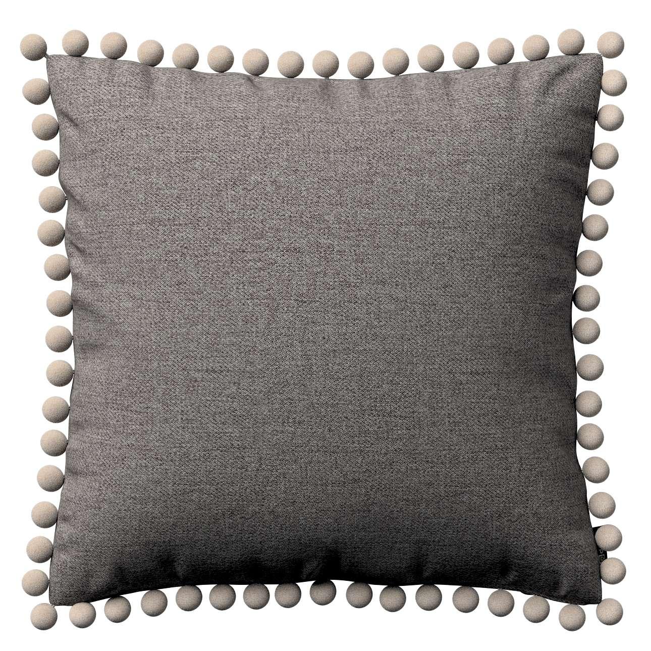 Wera dekoratyvinės pagalvėlės užvalkalas su žaismingais kraštais 45 × 45 cm kolekcijoje Edinburgh , audinys: 115-77