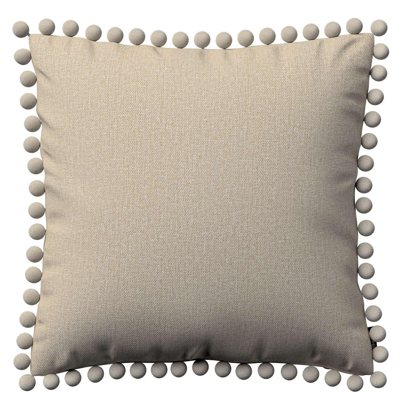 Wera dekoratyvinės pagalvėlės užvalkalas su žaismingais kraštais 45 x 45 cm kolekcijoje Edinburgh , audinys: 115-78