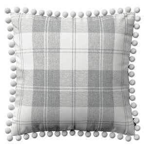 Wera dekoratyvinės pagalvėlės užvalkalas su žaismingais kraštais 45 x 45 cm kolekcijoje Edinburgh , audinys: 115-79