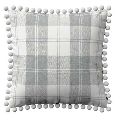 Poszewka Wera na poduszkę 115-79 krata szaro-biała Kolekcja Edinburgh