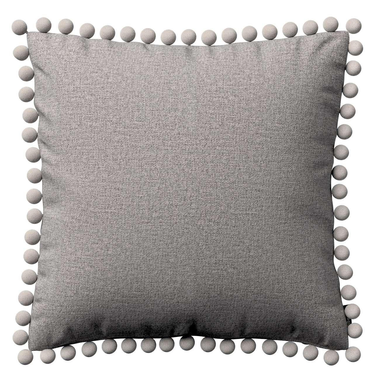 Wera dekoratyvinės pagalvėlės su žaismingais kraštais 45 x 45 cm kolekcijoje Edinburgh , audinys: 115-81