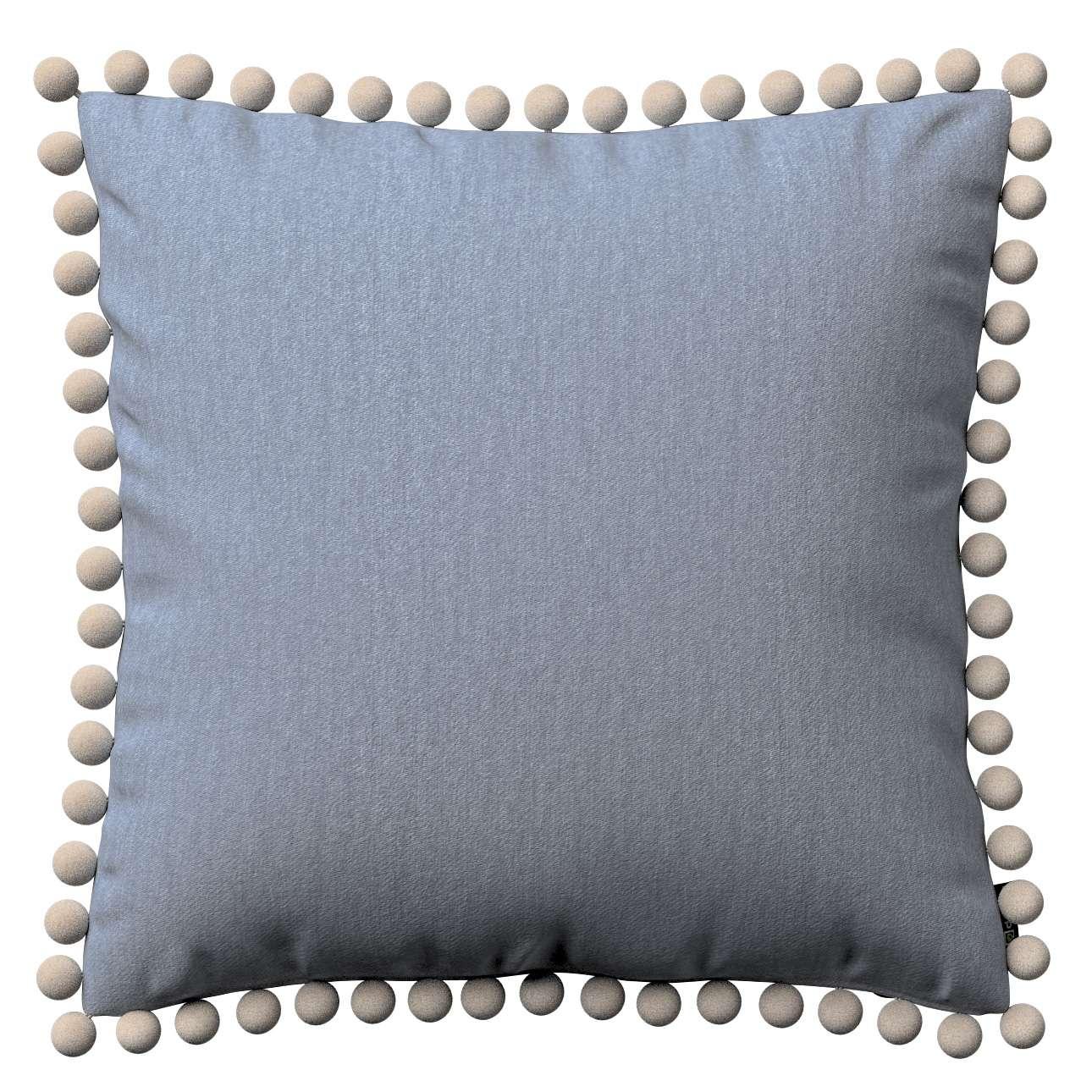 Wera dekoratyvinės pagalvėlės užvalkalas su žaismingais kraštais 45 x 45 cm kolekcijoje Chenille, audinys: 702-13