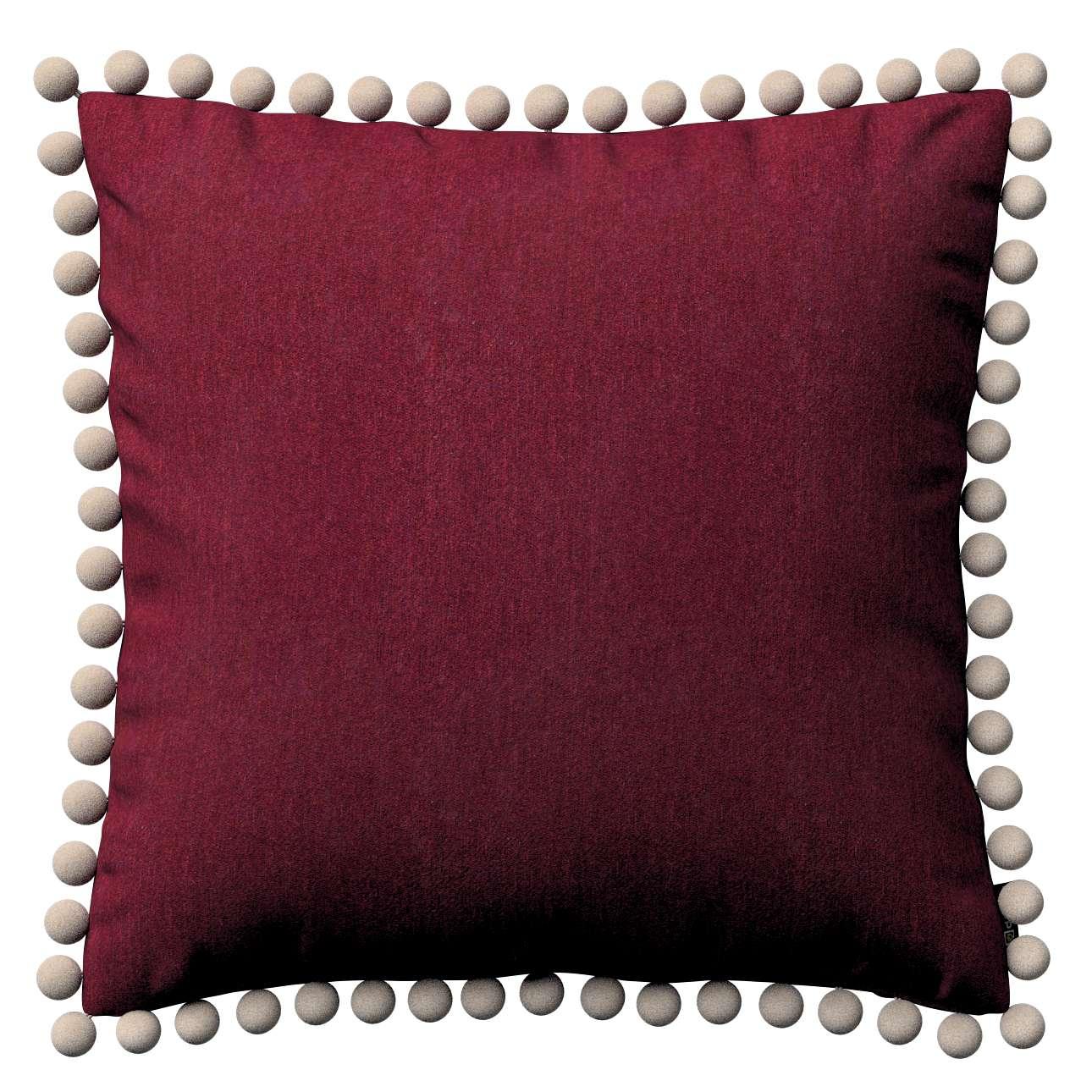 Wera dekoratyvinės pagalvėlės užvalkalas su žaismingais kraštais 45 x 45 cm kolekcijoje Chenille, audinys: 702-19