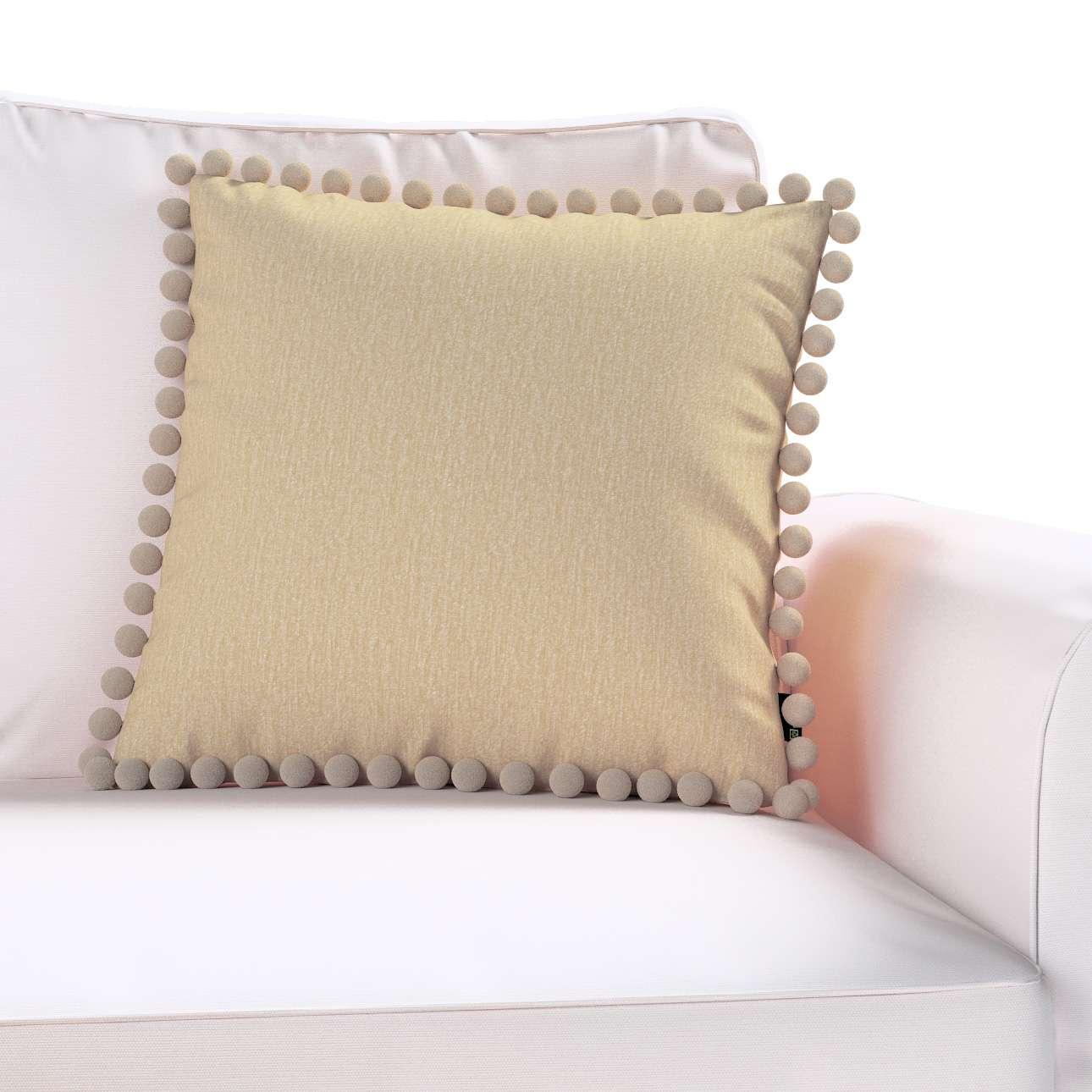 Wera dekoratyvinės pagalvėlės užvalkalas su žaismingais kraštais kolekcijoje Chenille, audinys: 702-22