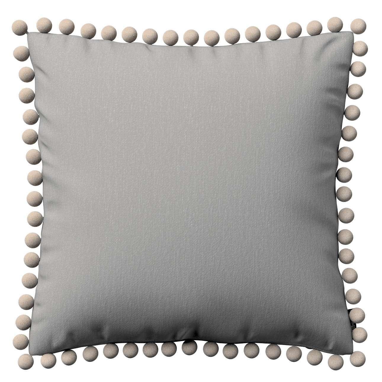 Wera dekoratyvinės pagalvėlės užvalkalas su žaismingais kraštais 45 x 45 cm kolekcijoje Chenille, audinys: 702-23