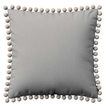 Vera cushion cover with pom poms in collection Chenille, fabric: 702-23