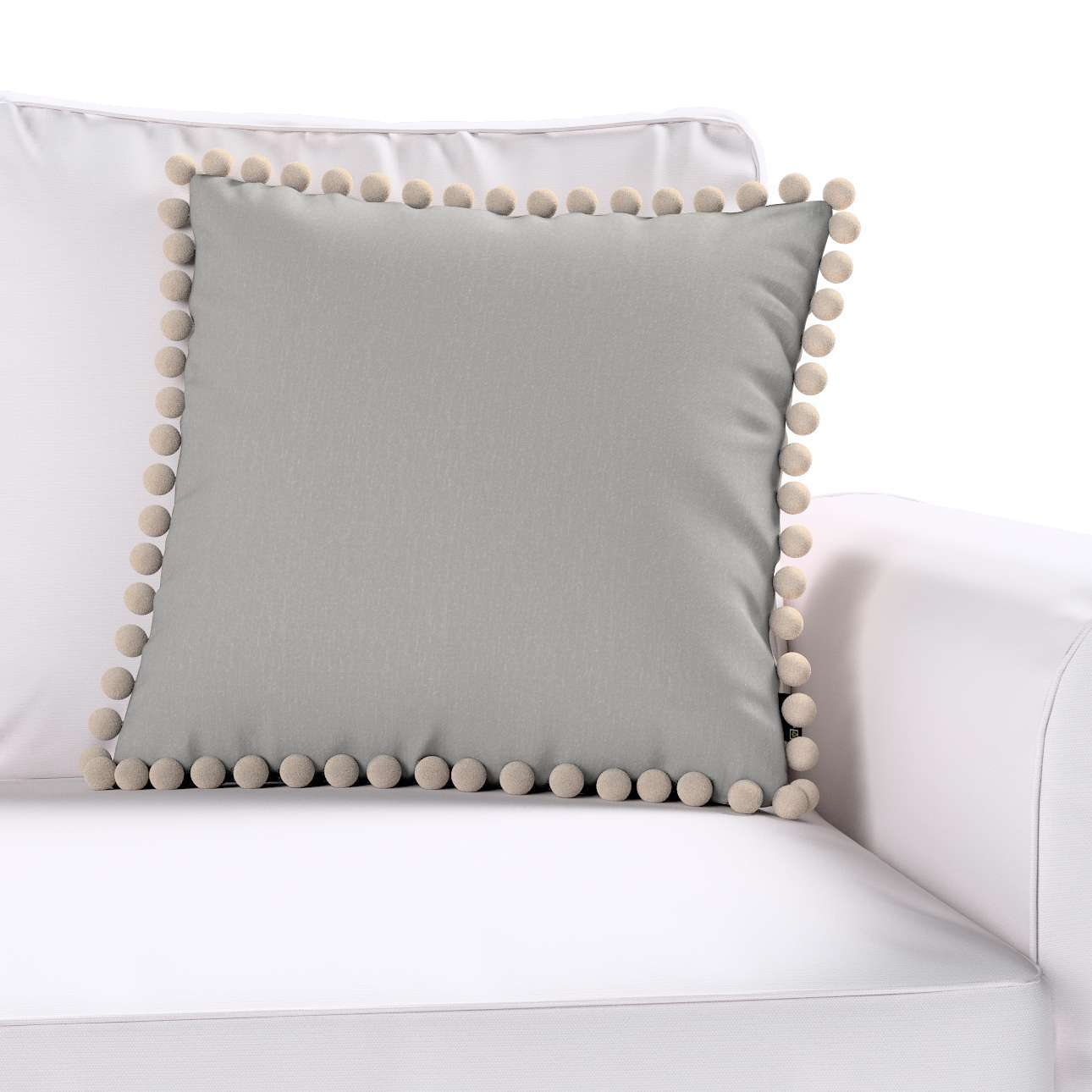 Wera dekoratyvinės pagalvėlės užvalkalas su žaismingais kraštais 45 × 45 cm kolekcijoje Chenille, audinys: 702-23
