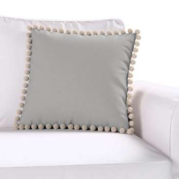 Wera cushion cover with pompons 45 x 45 cm (18 x 18 inch) in collection Chenille, fabric: 702-23