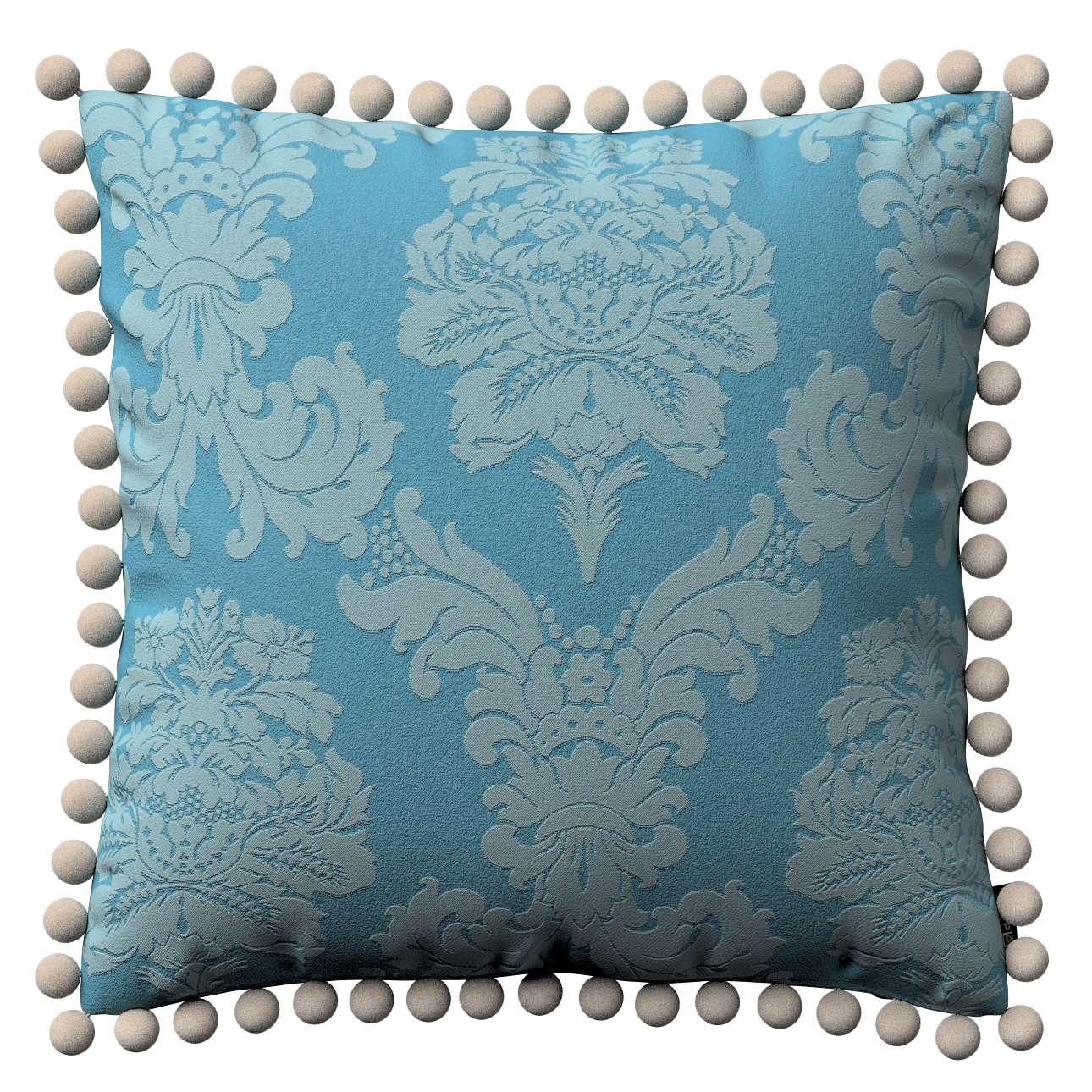 Wera dekoratyvinės pagalvėlės su žaismingais kraštais 45 x 45 cm kolekcijoje Damasco, audinys: 613-67